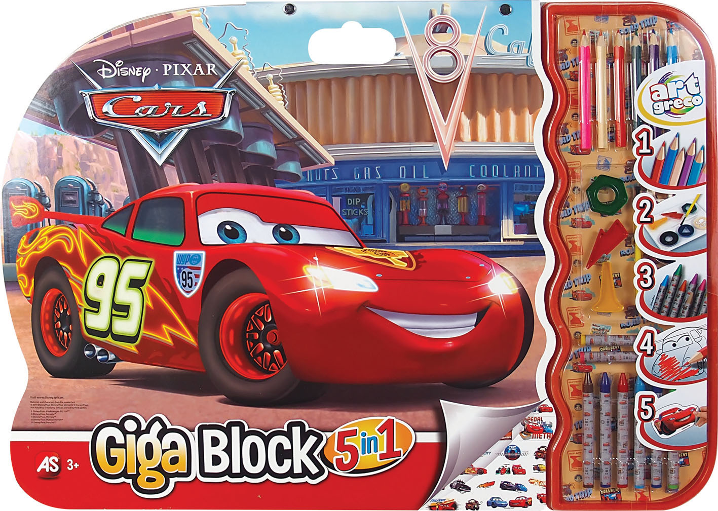 GIGA BLOCK CARS 5 IN 1