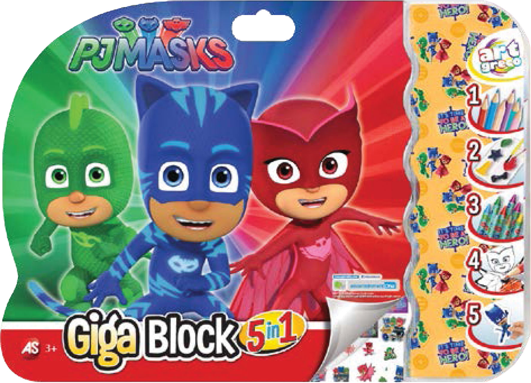 GIGA BLOCK PJ MASKS 5 IN 1
