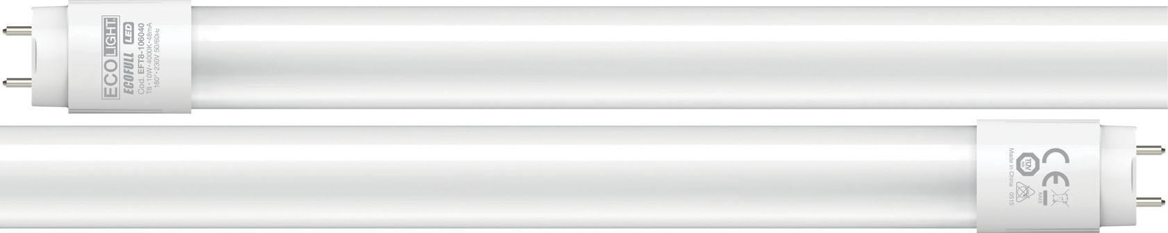 TUBO LED ECOFULL 10W  60CM CA