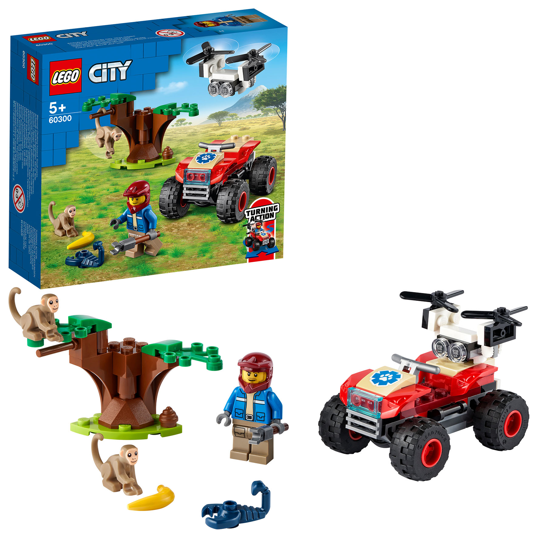 ATV SOCCORSO ANIMALE CITY LEGO