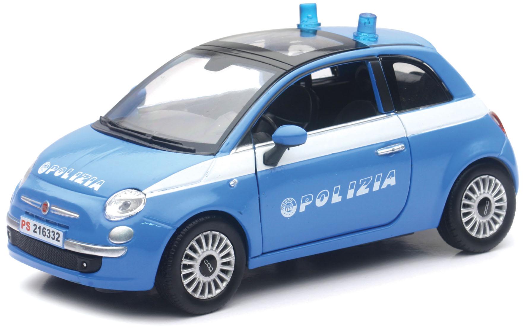 D C FIAT 500 POLIZIA 1 24