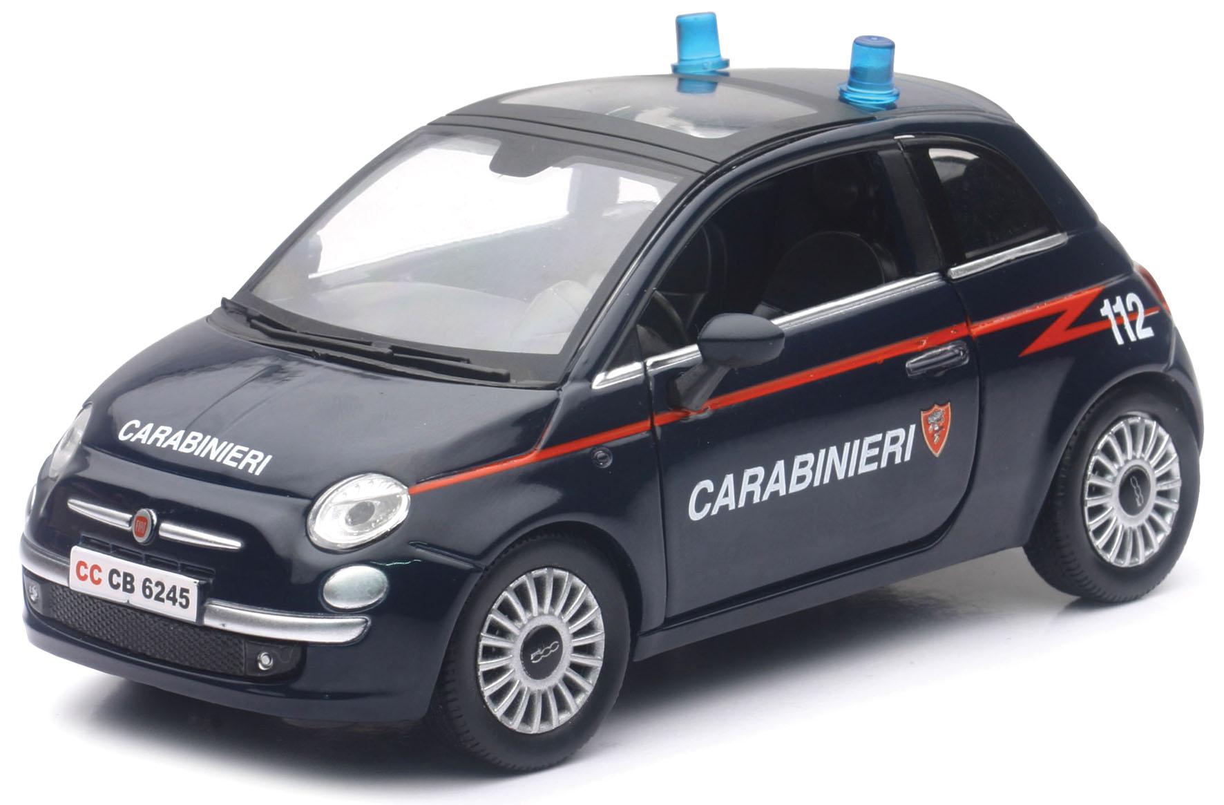 D C FIAT 500 CARABINIERI 1 24