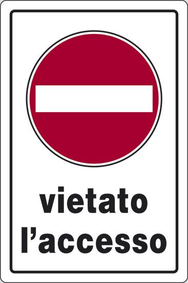 CART  VIETATO ACCESSO  30X20PL