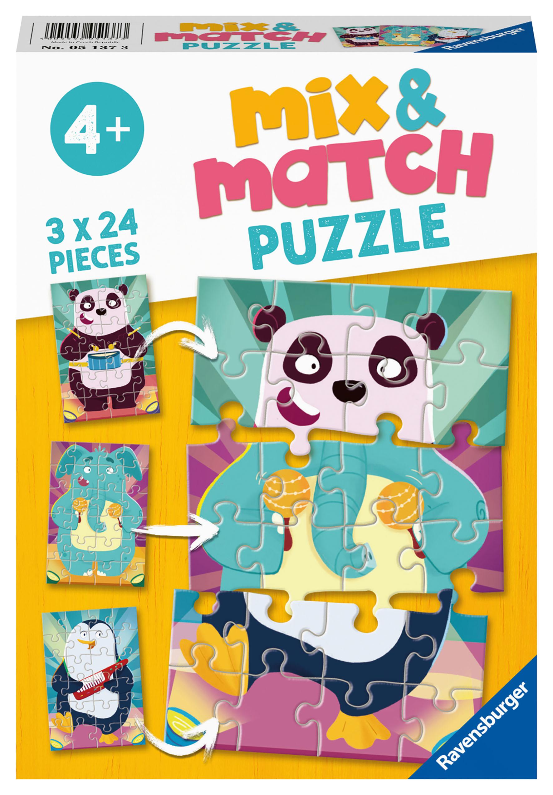 PUZZLE MIX MATCH ANIMALI 3X24