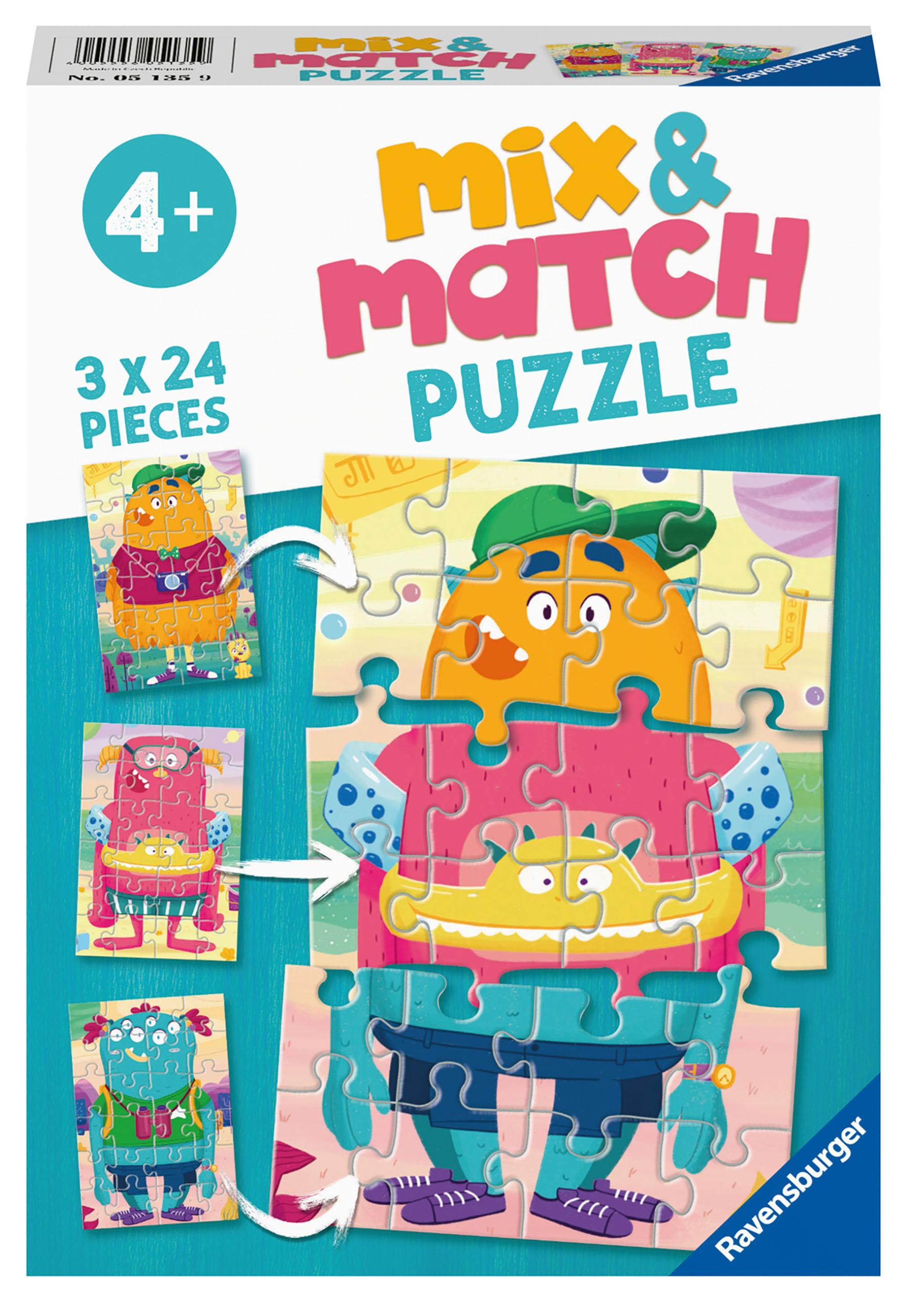 PUZZLE MIX MATCH MOSTRI 3X24