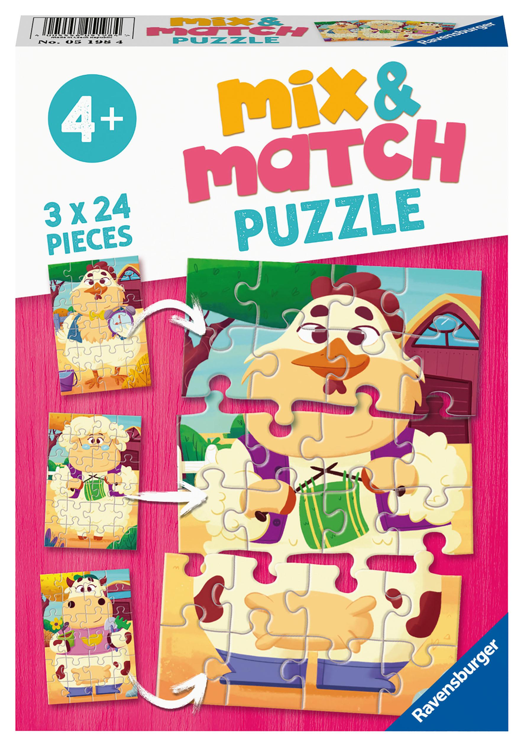 PUZZLE MIX MATCH FATTORIA 3X24