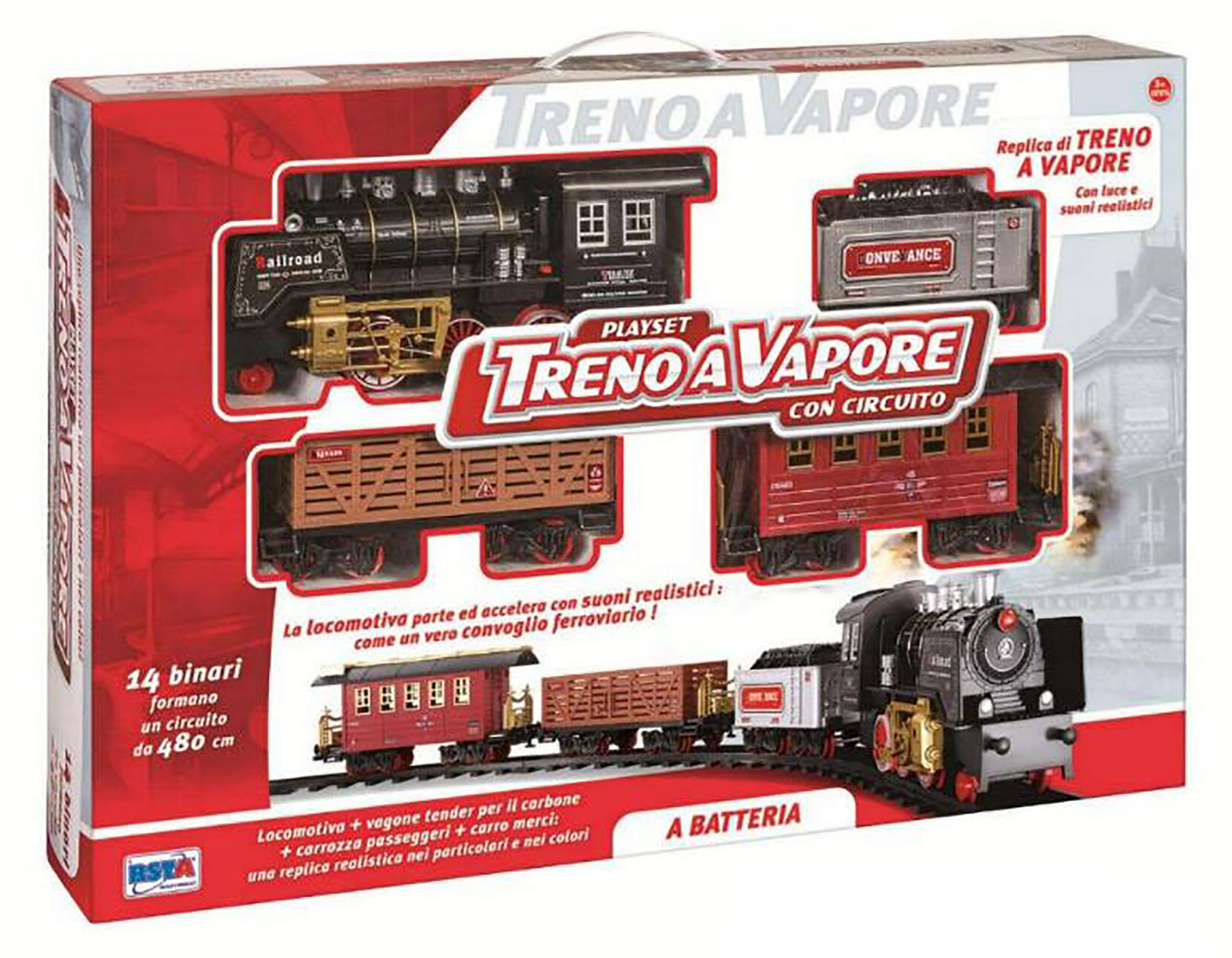 TRENO A VAPORE CIRC 480 CM B O