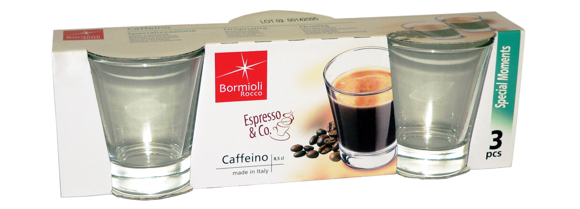 BICCH LIMONCINO CAFFEINO 3 PZ
