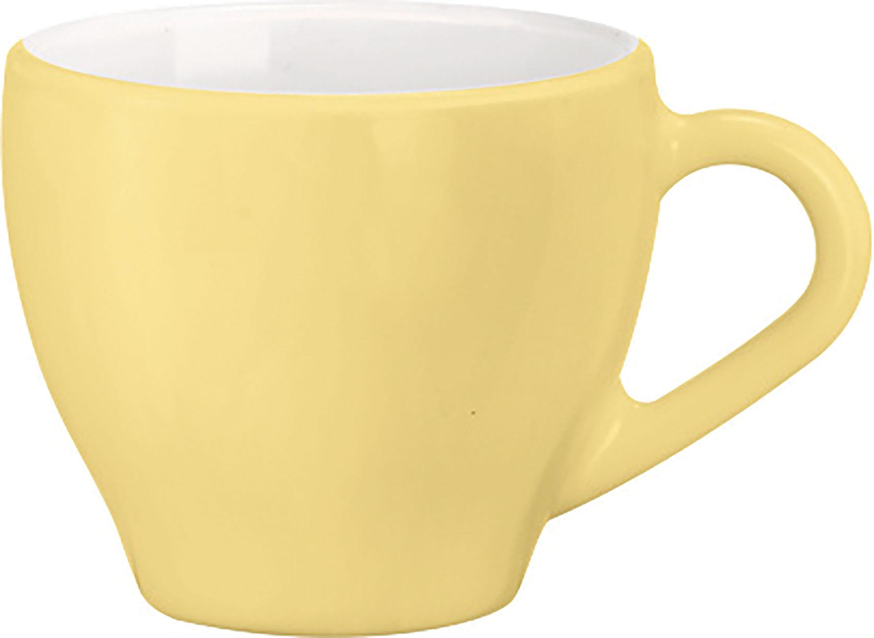 TAZZA CAFFE  PALETTE GIALLO