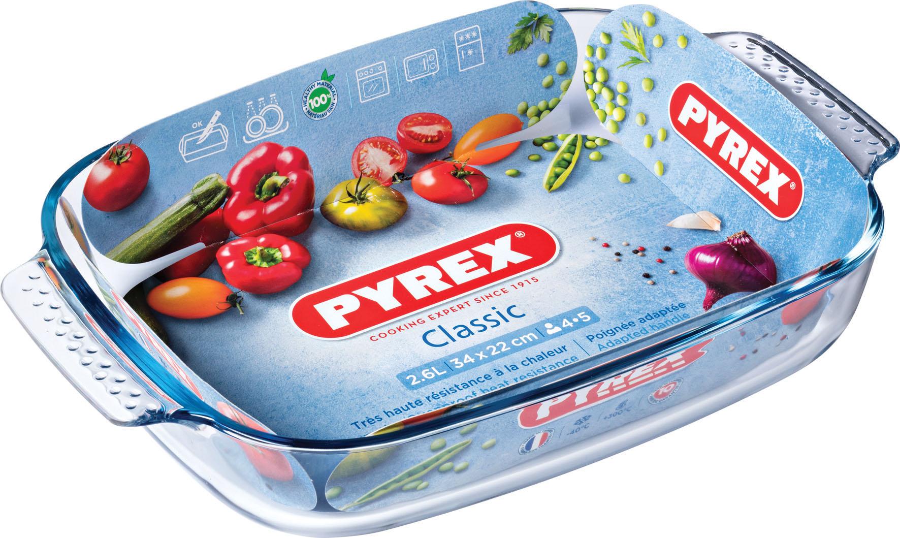 TEGLIA RETT 34X22 C M PYREX