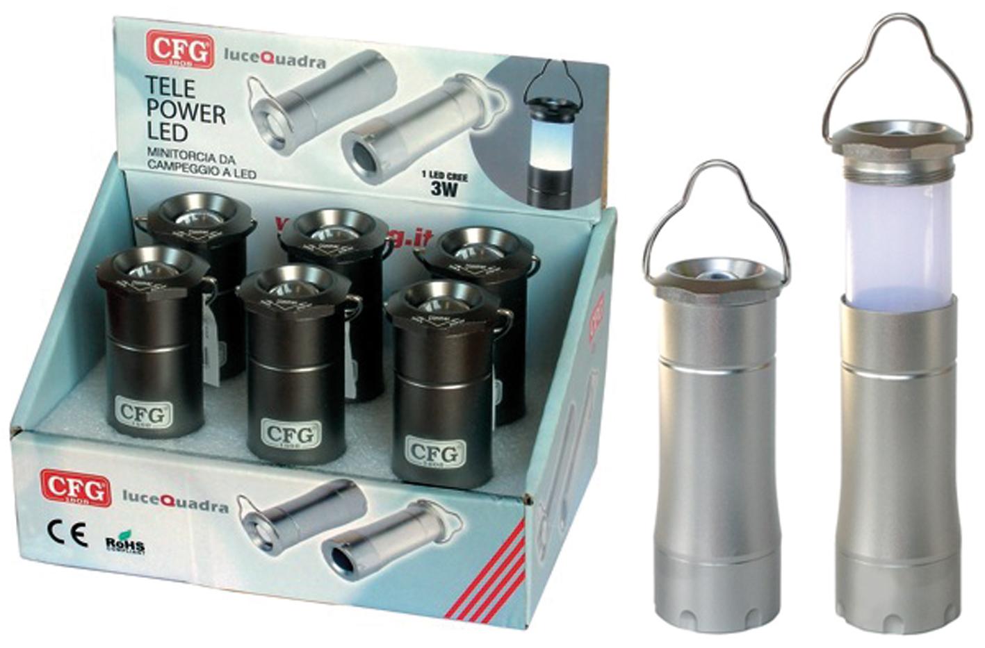 TORCIA TELE POWER LED 3W ARG