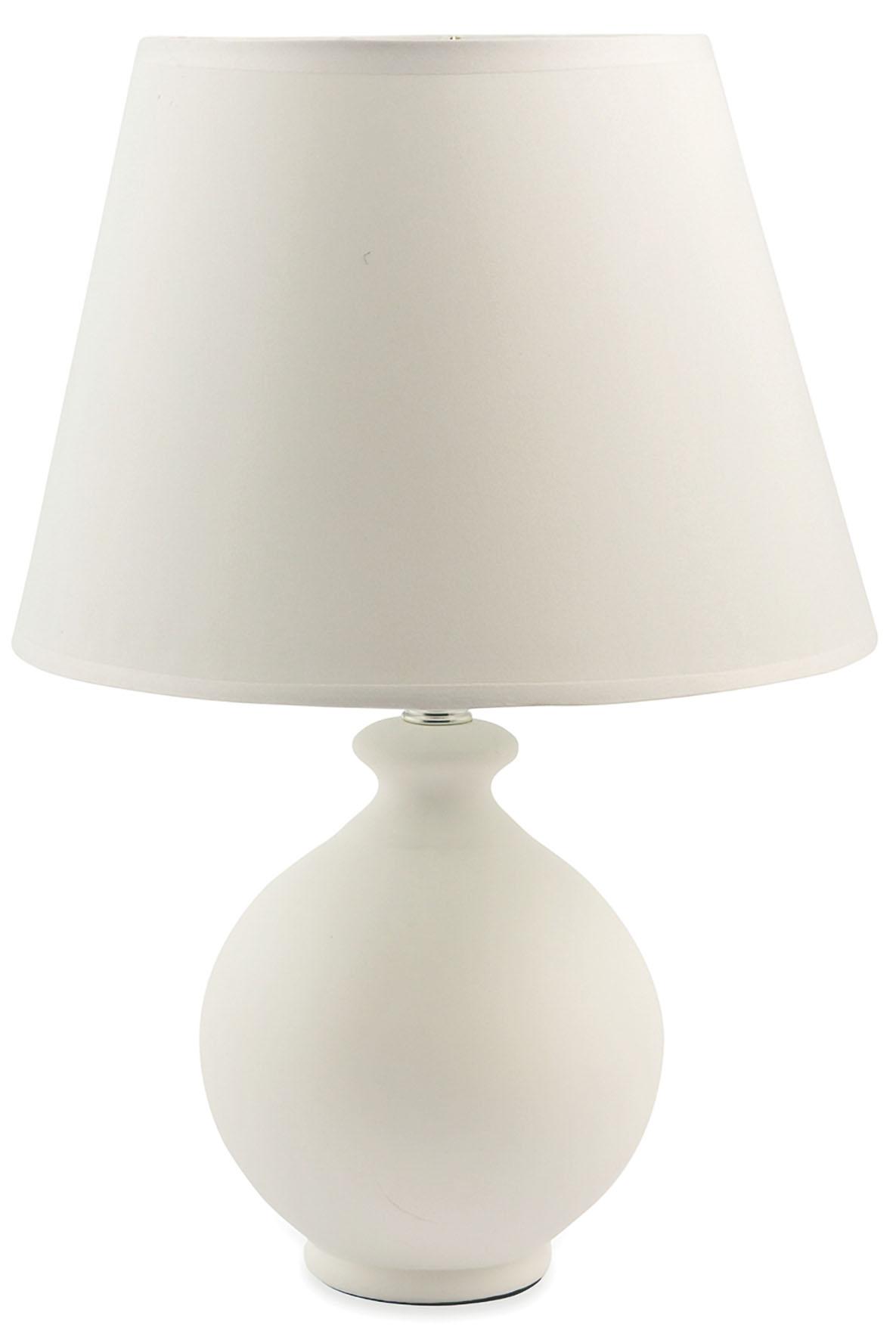 LAMPADA BASE ROTONDA BIANCA