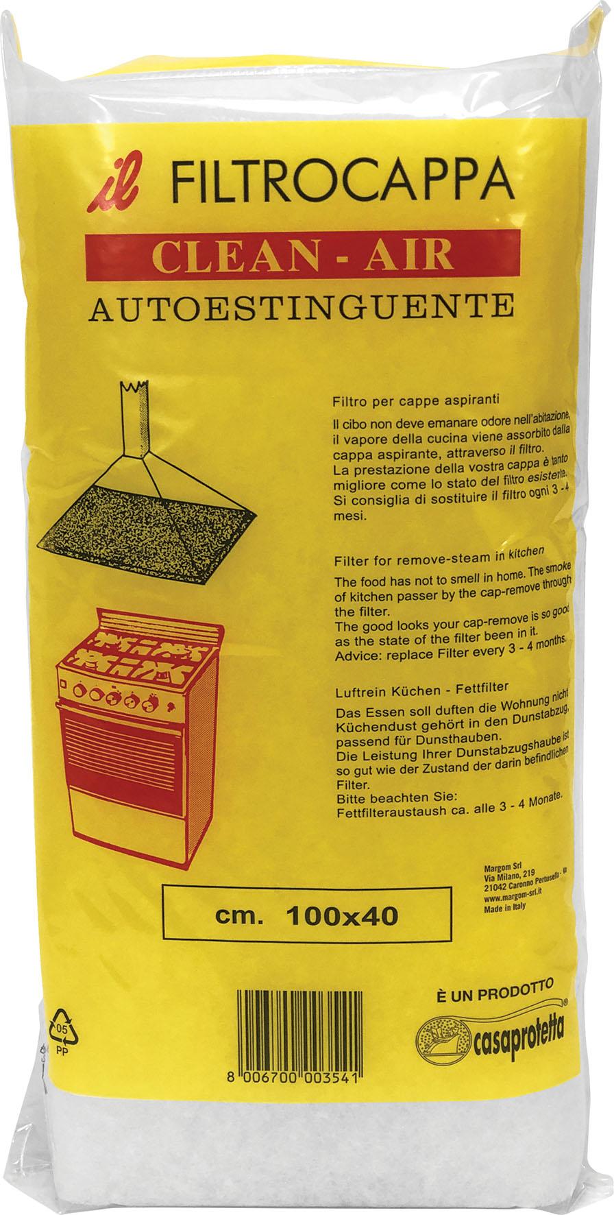 FILTRO CAPPE CLEAN-AIR 100X40