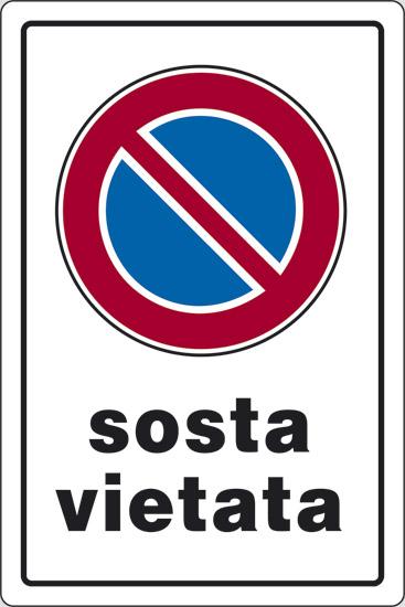CART  SOSTA VIETATA    30X20PL