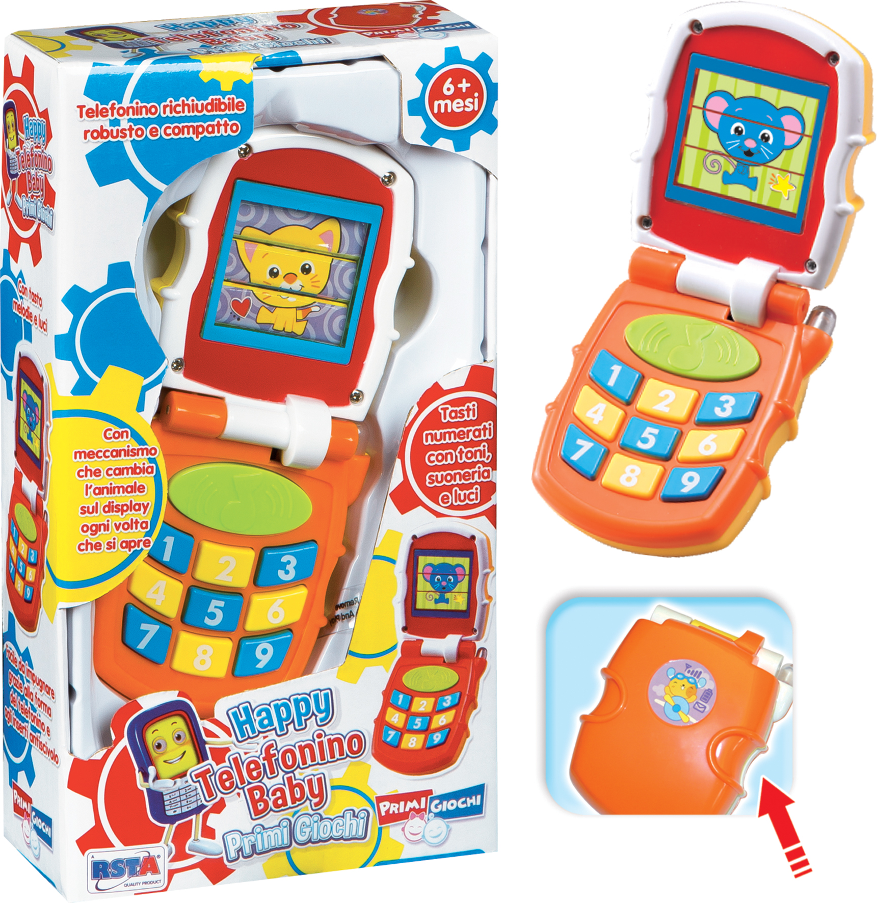 TELEFONINO BABY COLORI ASS